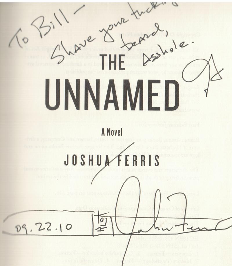 Joshua Ferris reading