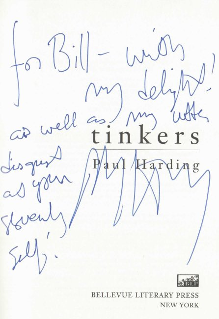 Paul Harding signed book