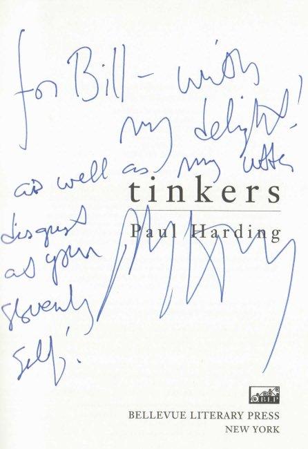 Paul Harding signed book