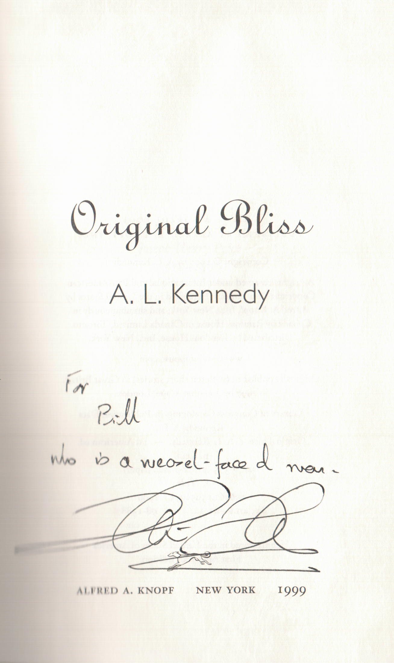 A.L. Kennedy What Becomes signed