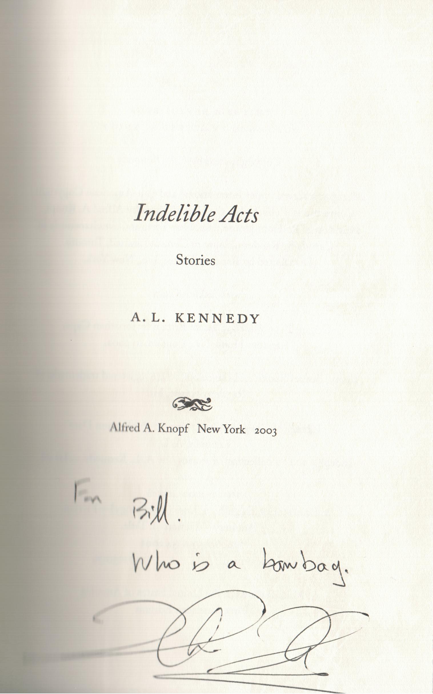 A.L. Kennedy reading