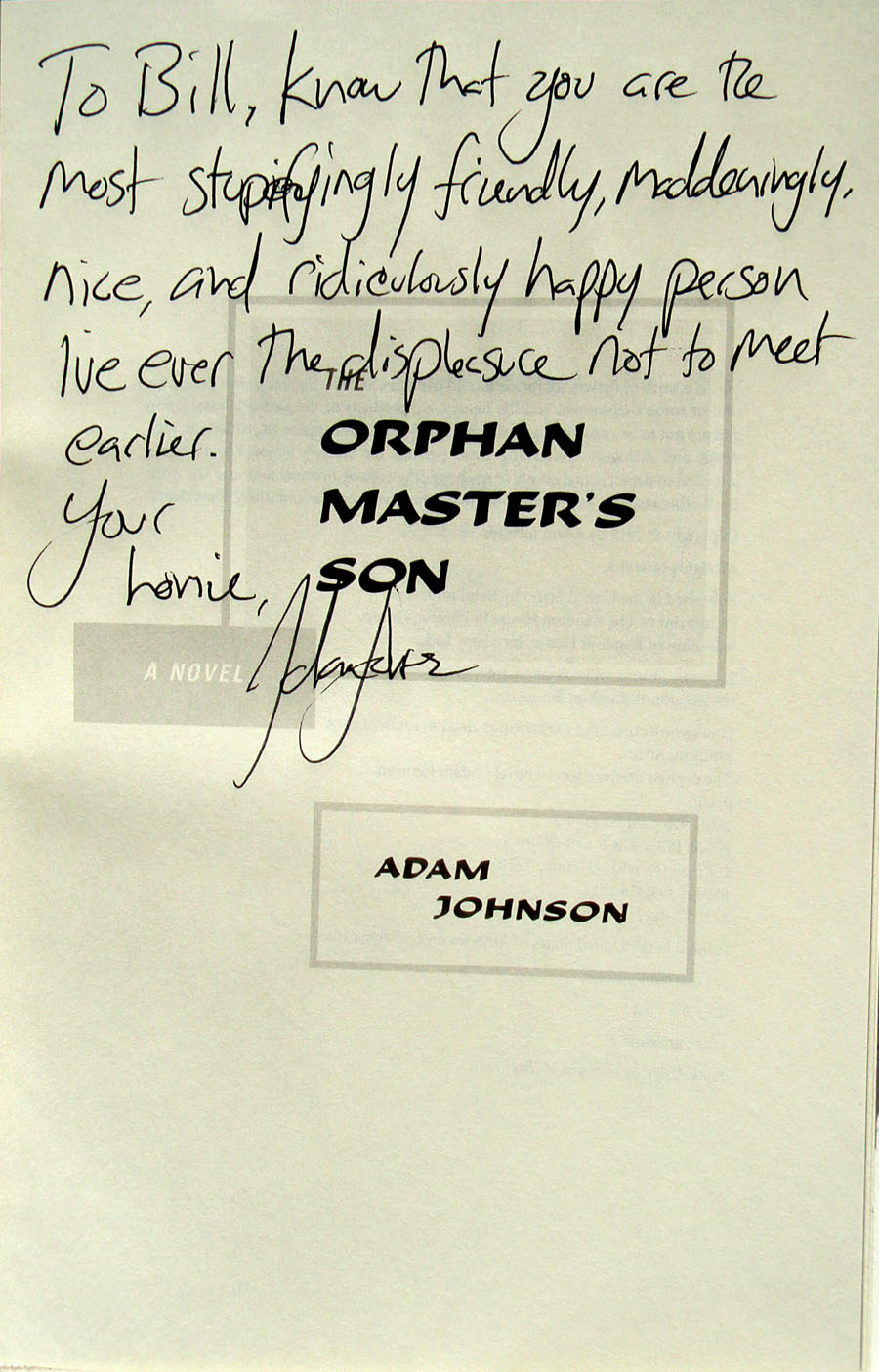 Adam Johnson Orphan Master's Son