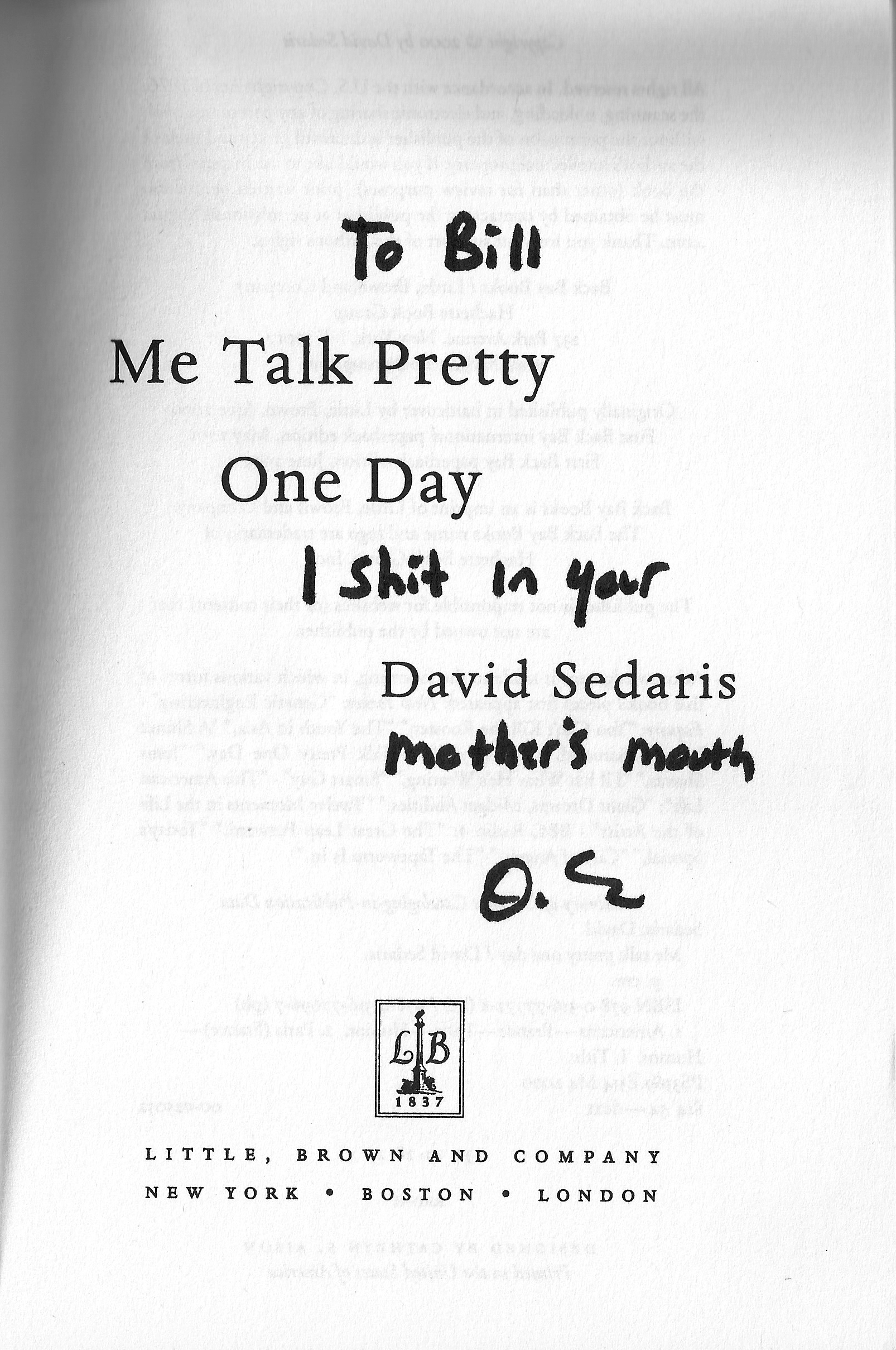 David Sedaris Funny Story