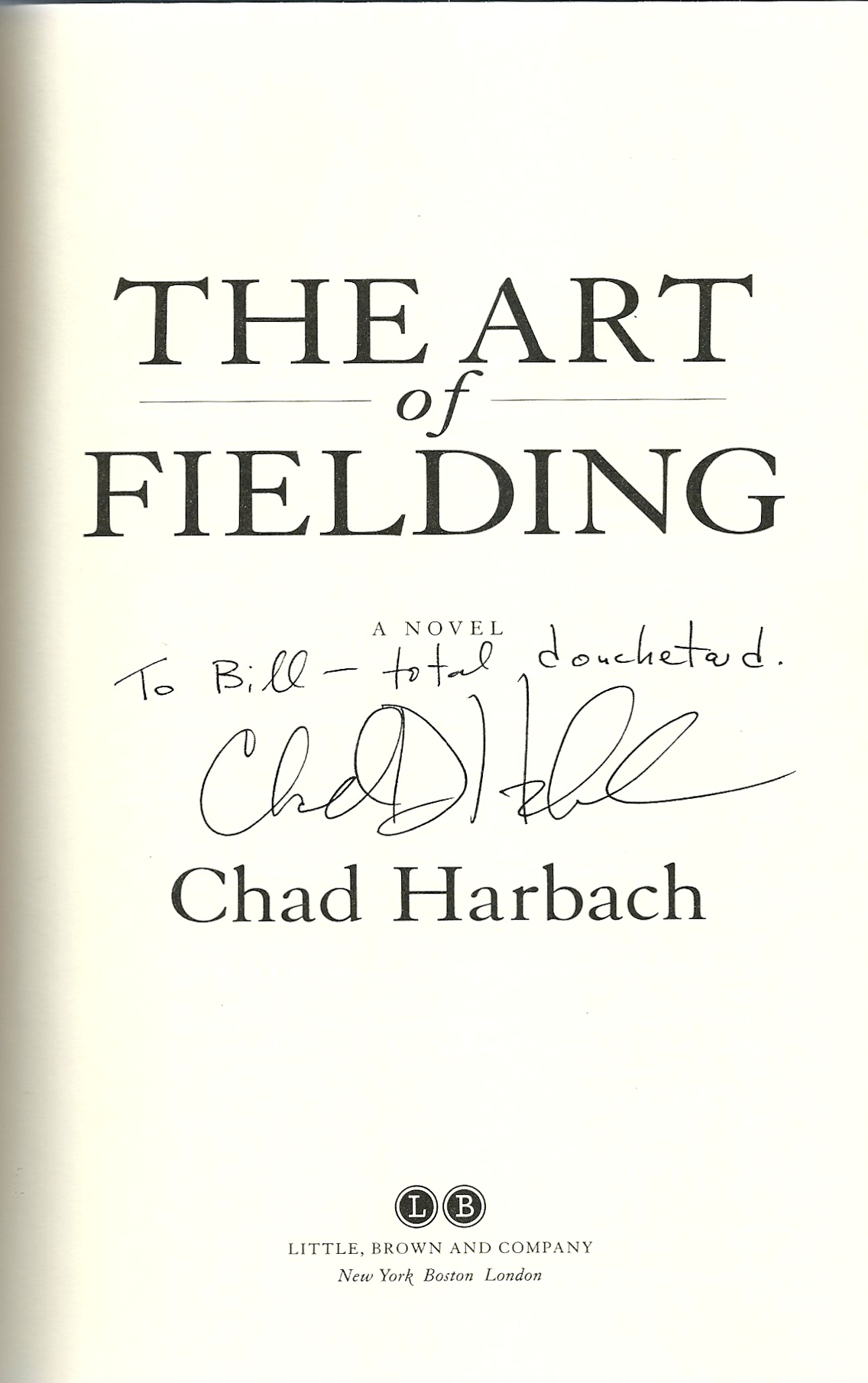 Chad Harbach first novel