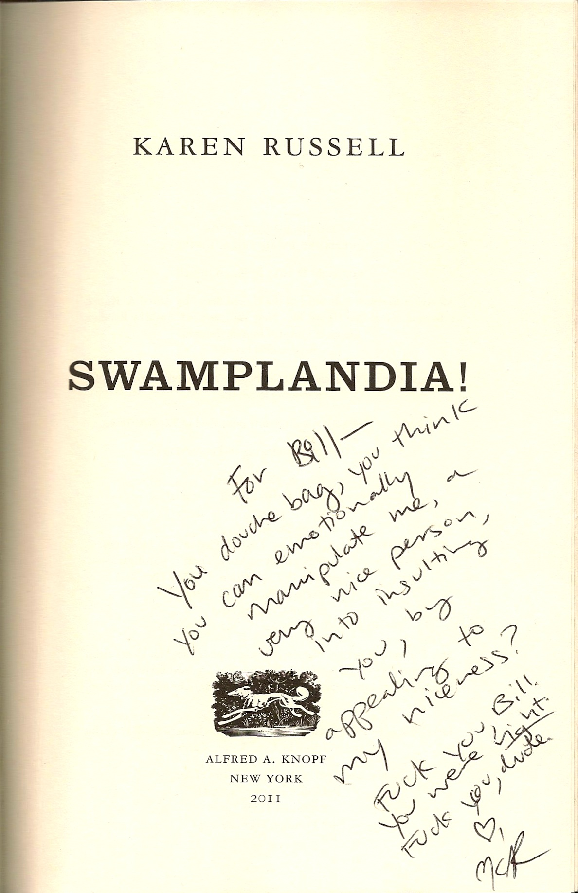 Karen Russell signed book