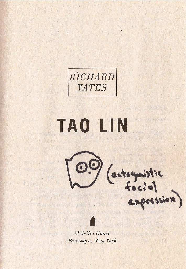 Tao Lin signed book