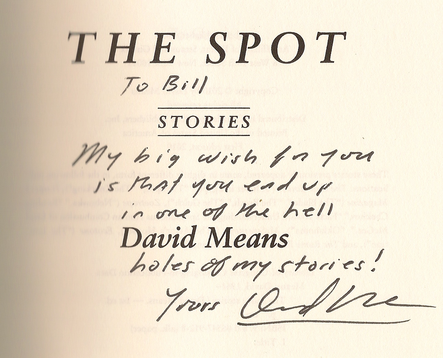 David Means The Spot