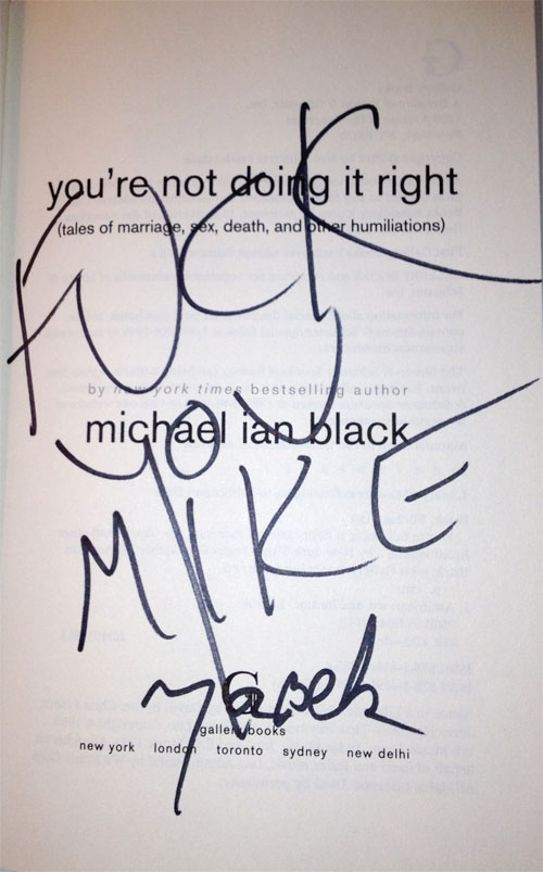 Michael Ian Black You're Not Doing It Right