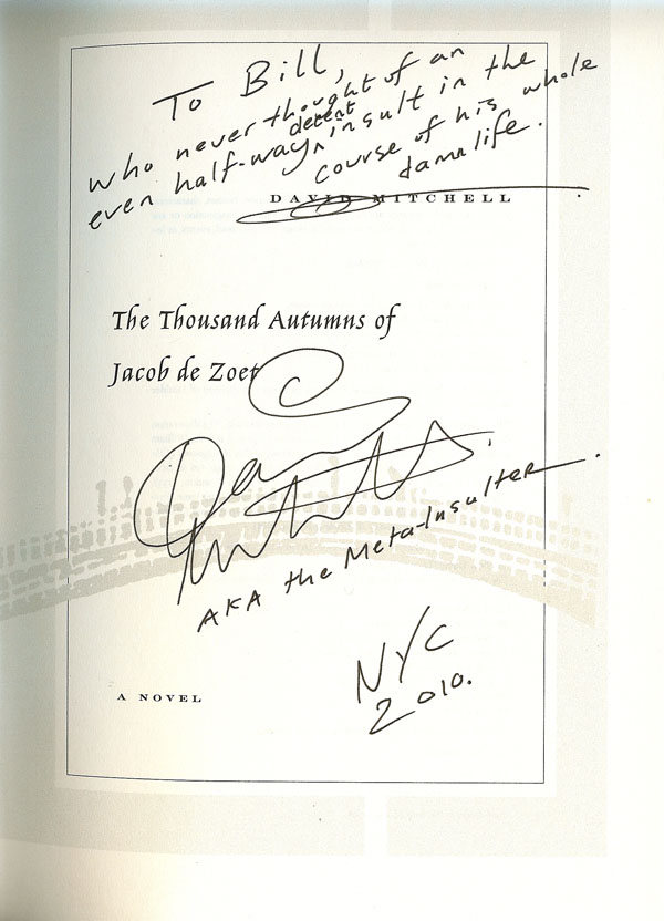 David Mitchell signed book